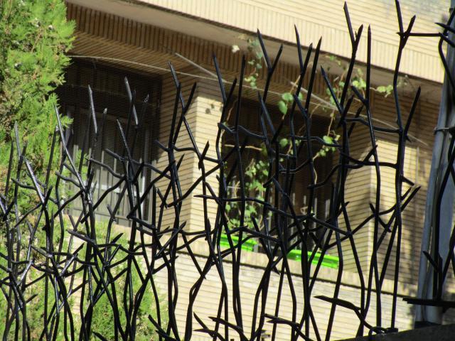 نمای نزدیک نرده شاخ گوزنی