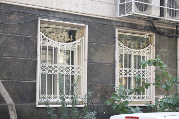 نرده پنجره سفید